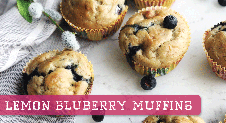 2 SmartPoint Lemon Blueberry Muffins { Drizzle Me Skinny }