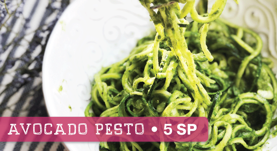 Creamy Avocado Pesto Sauce (with Zoodles) | Weight Watchers